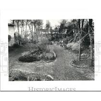 Undated Press Photo Entrance toward Historical Sociuty Museun of Garden Center.