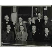 1933 Press Photo Farm Holiday Assoc meet to discuss strike in Sioux City, Iowa