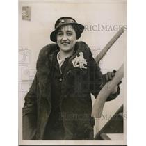 1935 Press Photo Denise Clarouin Parisian literary ageny arrives in NYC