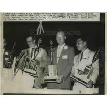 1937 Press Photo America's Four Outstanding Young Farmers of 1956 - nee69355
