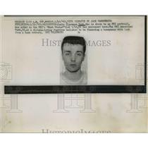 1963 Press Photo Bank Robber Mugshot Jerry Clarence Rush  - nee61081
