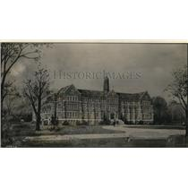 1928 Press Photo The new St. Joseph's Academy, now nearing completion on Rocky