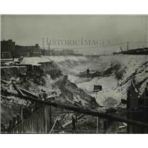 1929 Press Photo Excavation of the Union Terminal project - cva97395