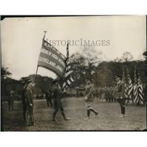 1926 Press Photo Surrender of Collars, ROTC discontinued in Cleveland Public Sch