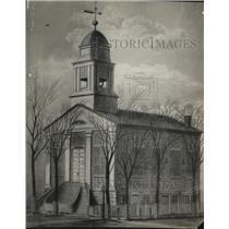 1921 Press Photo Old Stone Church original Edifice Cleveland Church.