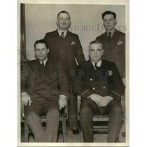 1936 Press Photo Michael Blackwell,H. Krueger and Jack Dudek and WM Halloran