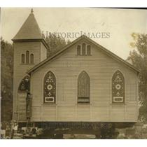 1923 Press Photo The Nothingham Baptist Church being raised for ceremonies