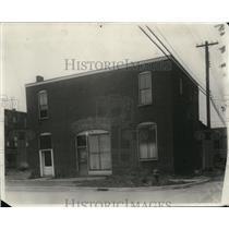 1930 Press Photo Scene of the shooting at Roxy Club, Ravenna Ohio - cvb04624