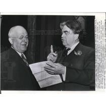 1941 Wire Photo W.W. Inglis with John Lewis at the Union leaders conference