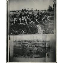 1930 Press Photo The Cleveland Sight Artillery and The Columbus Street Bridge