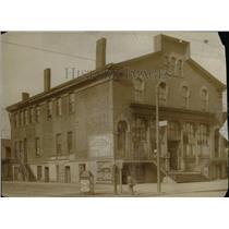 1913 Press Photo Saint Clair av at N.E. and E. third Street building - cva96845