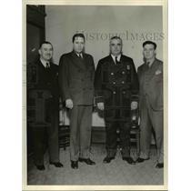 1936 Press Photo Jack dudek, Michael Blak-well, Herman Krueger and WM Halloran