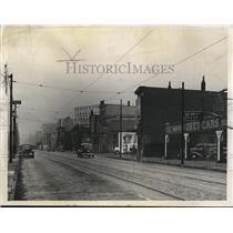 1938 Press Photo Looking East on Detroit Avenue from W.44th Street - cva94791