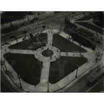 1930 Press Photo The southwest corner of the Public Square - cva89956