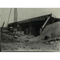 1928 Press Photo Construction at the Kingsbury Run in E. 25th Street - cva97592