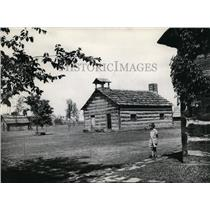 1936 Press Photo First Schoolhouse in Schoenbrunn Ohio - cvb04515