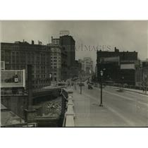 1924 Press Photo Superior Ave looking east from High Level Bridge - cva96556