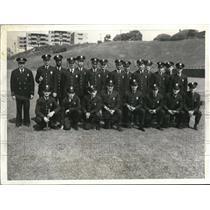 """1937 Press Photo """"Rookie Cops"""" John Stropko, Robert Feingold et all - cva79055"""