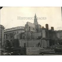 """1924 Press Photo The ruins of """"Old Rockwell School"""" are to give way to a great"""