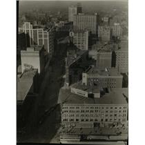 1926 Press Photo Huron Road and East 9th and Prospect aerial view - cva98041