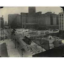 1930 Press Photo The Cleveland Public Square - cva89959
