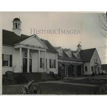 1951 Press Photo City hall, police and fire stations in Mayfield Heights Ohio