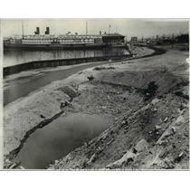 1931 Press Photo Damages at the Cleveland Port and Harbor - cva96647