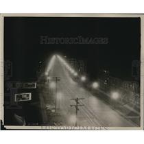 1927 Press Photo Early scene of Cleveland safest St Superior Avenue - cva96585