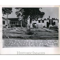 1961 Wire Photo The main entrance to the Hinds County prison Farm - cvw09804