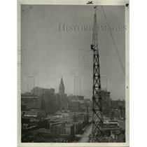 1937 Press Photo The Central Police Station radio tower - cva85084
