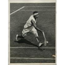 1929 Press Photo Molla Mallory playing Betty Nuthall at Nat'l Women's Champ.