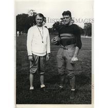 1931 Press Photo US Military Academy football coach Ralph Sasse & Jack Price