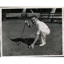 1934 Press Photo Tommy Loughran boxer at golf in Palm Beach Florida - nes39070