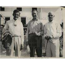 1936 Press Photo Johnny Revolta, J Harvey Irwin, Leslie Cook Western Open golf