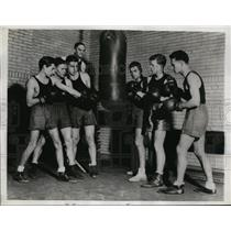 1934 Press Photo U of Penn boxers V Petrolle, J Bockman, E Schuman - nes40039