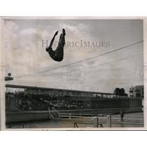 1936 Press Photo Richard Degener at National Springboard diving in Chicago