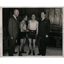 1936 Press Photo Jimmy McLarnin, Jack Root, Johnny Dundee, Jack O'Brien