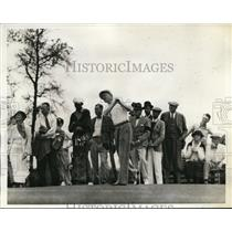 1935 Press Photo George T Dunlap Jr at North & South tournament Pinehurst NC