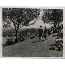 1937 Press Photo Gallery at National PGA Tournament in Pittsburgh PA - nes40232