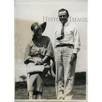 1933 Press Photo Abe Espinoza & wife at at National Golf Championship Wisconsin