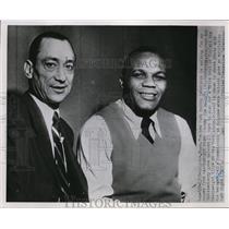 1952 Press Photo Jersey Joe Walcott & manager Felix Bocchicchio in NY