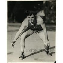 1939 Press Photo Stanford guard John Hancock on basketball court - nes39681