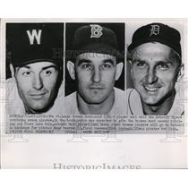 1952 Press Photo Matt Batts, Gene Bearden & Dick Kryhoski traded from Browns