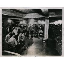 1935 Press Photo Basement of Mess Hall at San Quentin Prison in California