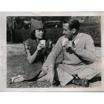 1938 Press Photo Mr & Mrs Paul Runyan at Pasadena California golf - nes40244
