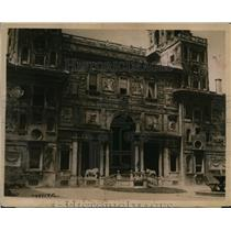 1921 Press Photo Facade of the Villa De Madici Academy of France in Rome Italy
