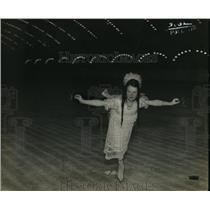 1923 Press Photo Berna Young Skating