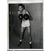 1941 Press Photo Bob Montgomery training for bout vs Lew Jenkins in NYC