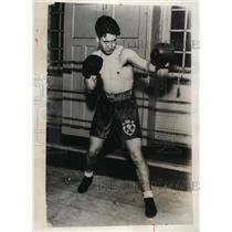 1931 Press Photo Fernando Rubio son of Mexican president boxing - nes39622