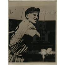 1934 Press Photo Cleveland Indians player Dutch Holland - nes41188 - nes41188